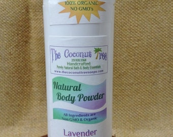Lavender scented Powder / Aluminium Free / Coconut Oil / Organic Deodorant / Non GMO / Safe / Great for Cancer Patients