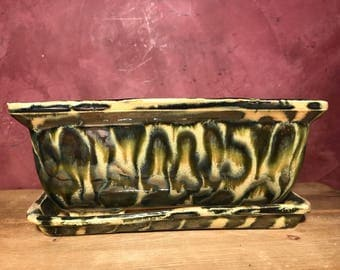 SEVERELY WARPED TRAY Handmade bonsai pot, succulent. Indoor. Made in usa.