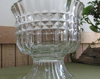 Crystal FTD Planter Floral Arrangements Bouquets Florist Ware Vase 1986
