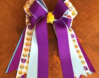 Equestrian Hair Bows/emoji hair accessory/equestrian clothing/gift