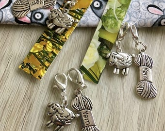 Stitchmarkers, Sheep Stitch marker, Stitchmarkers for Knitting, Sheep Marker, Knitting Supplies, Crochet, Gift for Knitters, Sheep, Knitting
