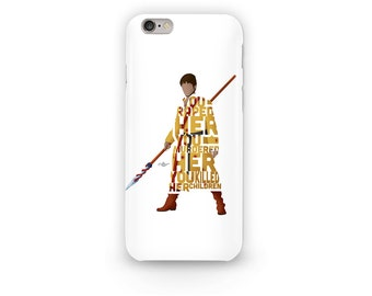 """Oberyn Martell Phone Case Typography aka Red Viper from Game of Thrones Quote, """"You Raped Her, You Murdered Her, You Killed Her Children"""""""