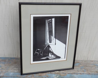Artsy 1980's Signed, Matted and Framed Photo!