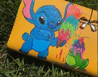 Disney inspired- Stitch Wristlet Wallet