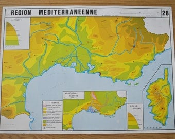 Old map double-face - France: Mediterranean area - South-East. By NIGHTINGALE
