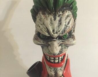 Tobacco Hand Made Pipe, Evil Joker Face Design