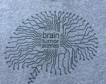 Brain Tumor Awareness Tshirt - Go Grey