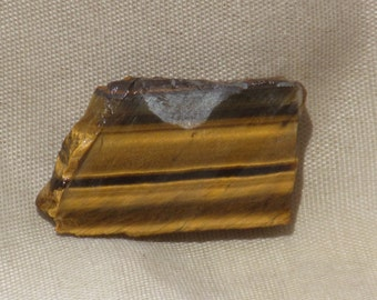 RIMH TIGER EYE, Slab, 55.5 ct., Old Stock, African Chatoyant Banded Lapidary