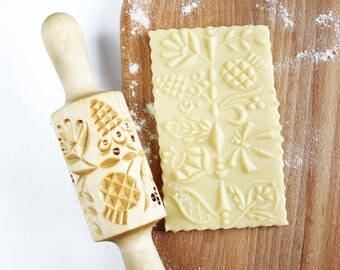 rolling pin for gingerbread and cookies handmade rolling pin wood carving rolling pin