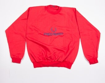 Vintage Fred Perry 90s Logo Embroidered Jumper Sweater