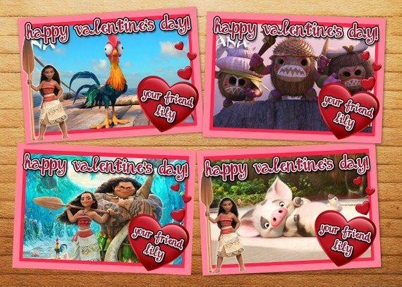 Disney Moana Printable Valentines Cards