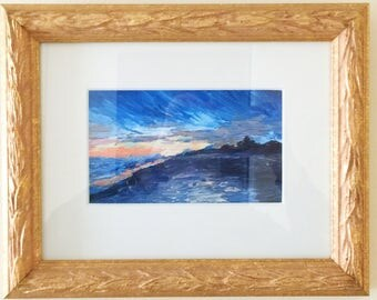Ocean city New Jersey palette knife oil painting