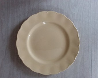 Vintage Buttery Color Petalware Dinner Plate by Grindley Made in England