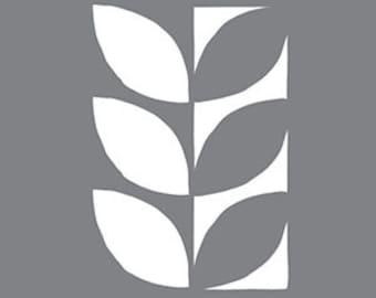 """6"""" x 6""""  Mod Leaf, Stencil, Americana Decor"""