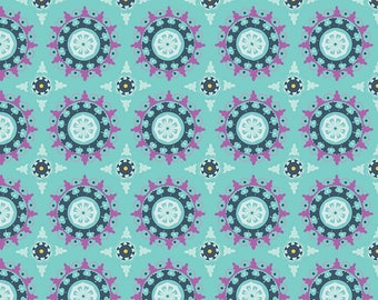 Riley Blake Lulabelle Medallion Mint fabric