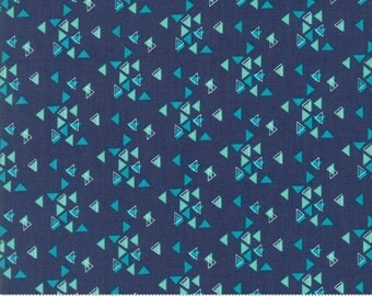 SPECTRUM Triangles in Indigo by V and Co for Moda