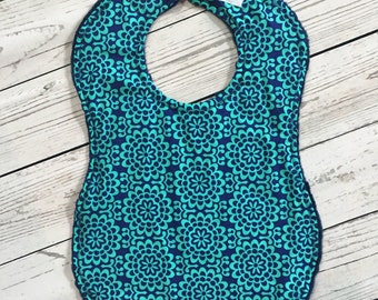 Full Coverage Baby Bib/ Burp Cloth- Amy Butler Wallflower