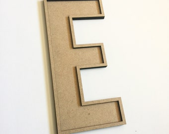 """Unfinished wood alphabet letter, MDF letters, fillable letters, diy wood letter, 13"""""""