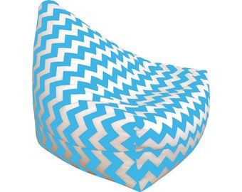 Funky Bean Bags Kids Chair Adult Lounge Large Floor Cushion Chevron