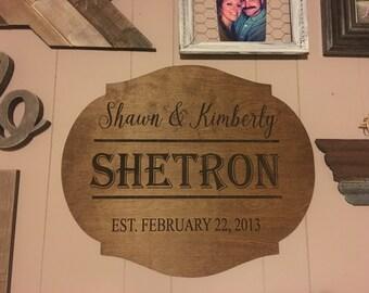 Established sign, established wall hanging, wedding gift, anniversary gift, christmas gift, established