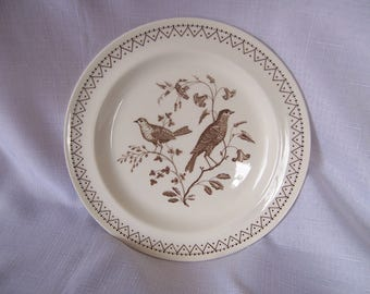 "Vintage Wedgwood Aviary 8"" Luncheon Plate"