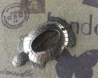 Vintage Sterling Silver Hairpin/ Bun Holder /Hair clip / Ponytail Holder 20.8 GRAMS