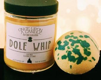 Pineapple Dole Whip Candle & Bathbomb - Disney Themed Bath Set - Dole Whip - Tiki Room Candle