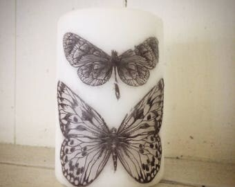 Butterfly pillar candle