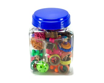 Conure Footies Jar of Foot Toys - Parrot Accessories Bird Toys for Parrots Bird Products
