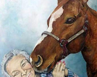 Custom Horse Portrait Painting