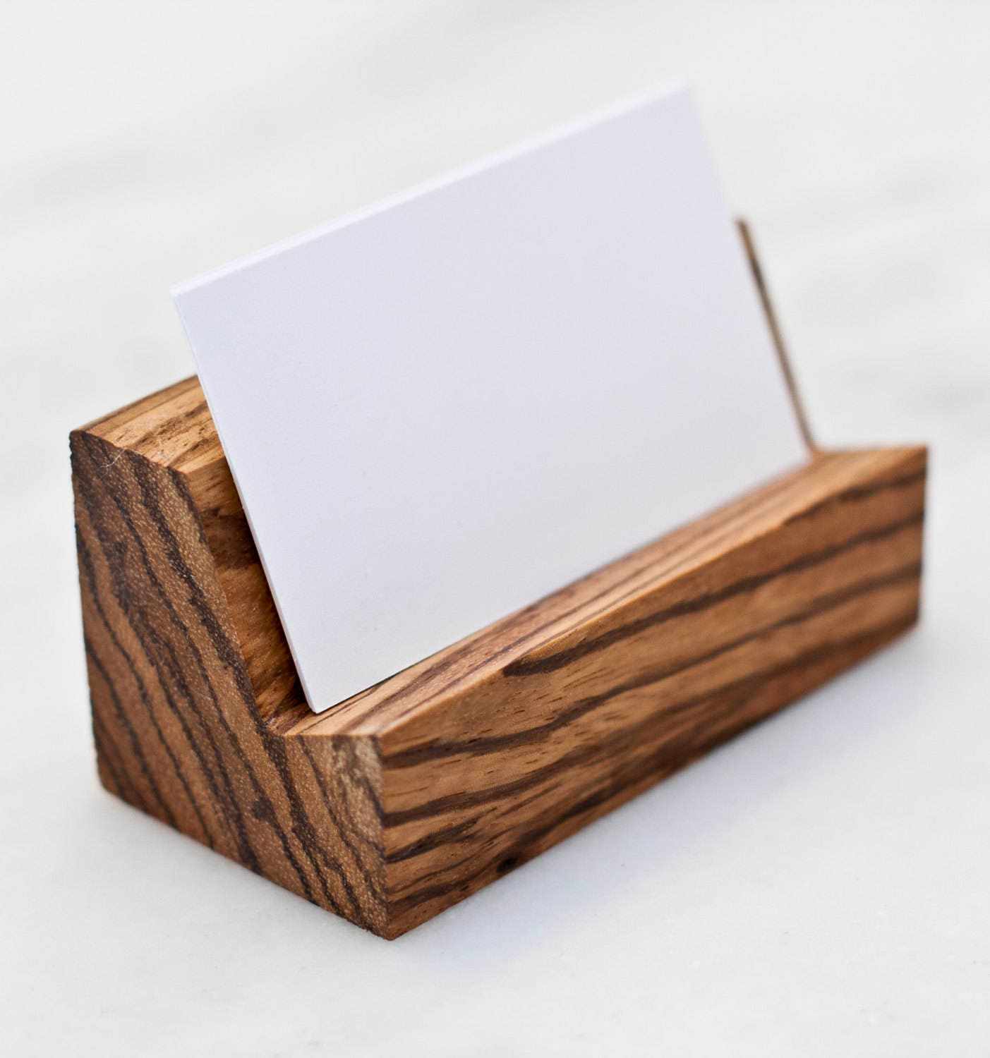 Exotic Wood Business Card Holder Purple Heart
