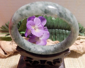 63.5mm Green Jade Jadeite Bangle Bracelet Jewelry Crafts Supplies DIY Crafts