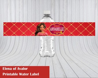 Elena of Avalor Water Label