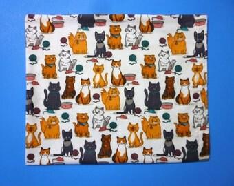 Heating Pad Cover ~ Kitty, Mice and Yarn Print