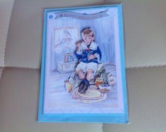 3D Decoupage 'Happy Birthday' Handmade Card