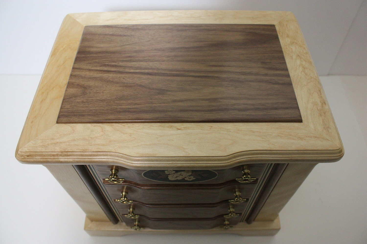 Tall Jewelry Box with Drawers For Sale