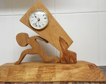 Wooden Mantel Clock Hand Crafted from Oak
