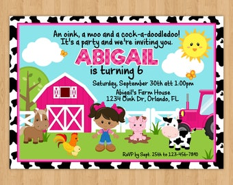 Farm Girl Birthday Invitation