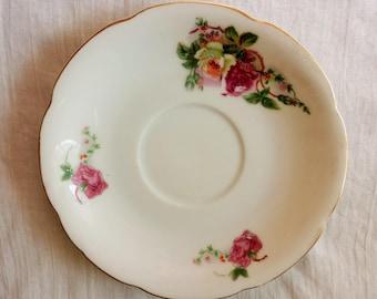 Vintage Japanese Saucer / Made In Occupied Japan / Japanese China Plate / Vintage Saucer