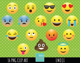EMOJI clipart, emoticons clipart, commercial use, party, emoji graphics, smiley face, face emoticons, emoji face, cute