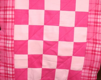 PINK Patch People blanket. Perfect Lap size! Sales Benefit MCAR