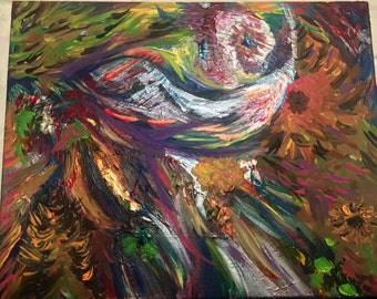 Abstract Eye Painting