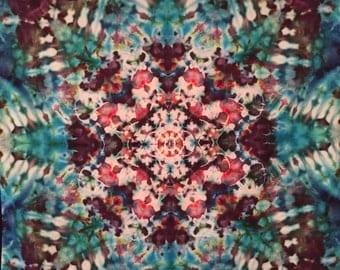 Tie dye mini mandala tapestry