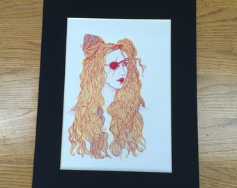 Girl with Eyepatch Screenprint