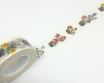Flowers in The Pot Washi Tape 15mm x 10m