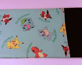 STANDARD Personalized Pillow Case made with Pokemon Fabric
