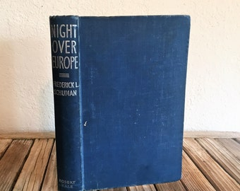 Vintage Book Titled Night Over Europe 1939-1940