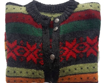Vintage Knitted Cardigan Jacket Sweater
