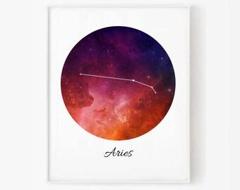 Zodiac Aries, Aries space, Space, Aries Constellation, Aries digital, Zodiac print, Zodiac Constellation, Stars constellation, Aries print