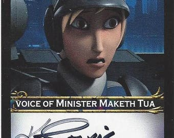 Star Wars Rebels Voice Actress Kath Soucie AUTOGRAPHED Custom Trading Card